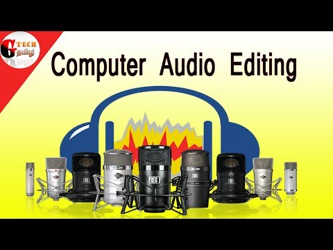 Audio editing in computer in tamil
