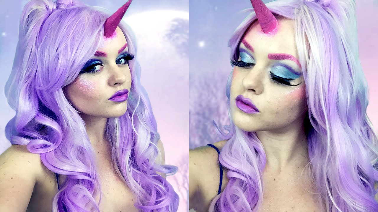 Unicorn Halloween Makeup Tutorial 🦄 - YouTube