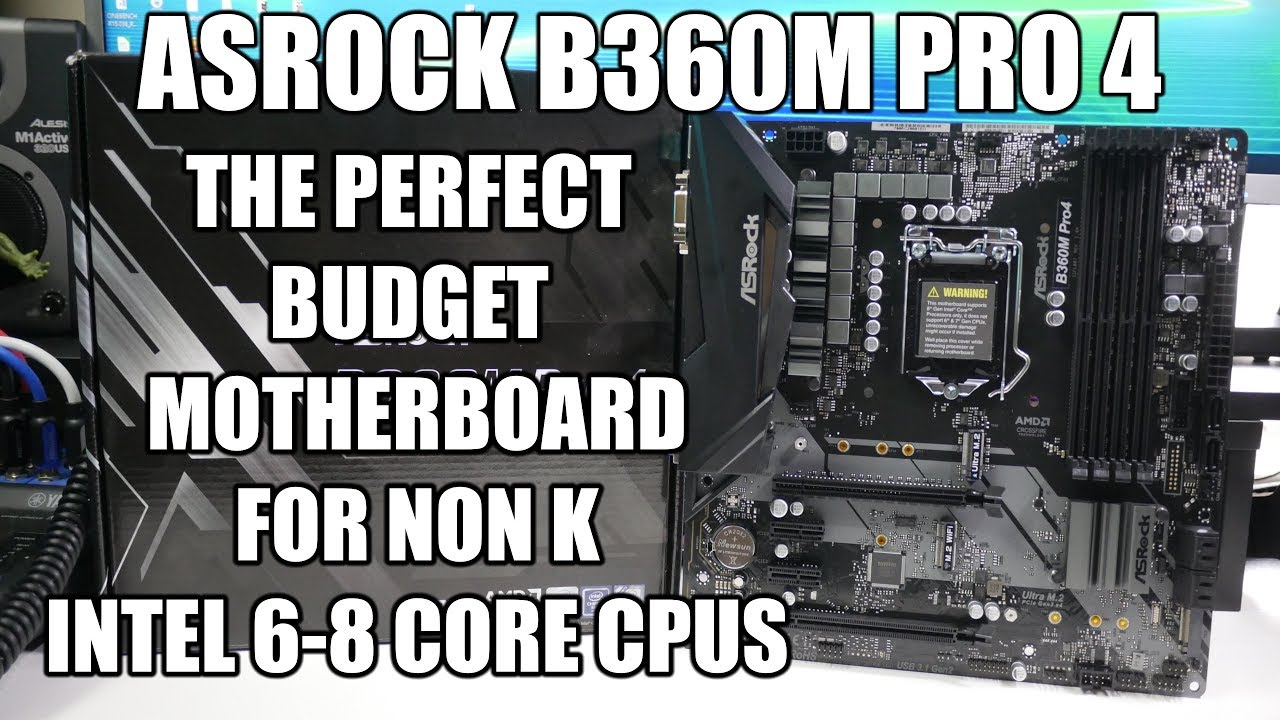 ASROCK B360M PRO4 Intel Motherboard – Unboxing And Overview