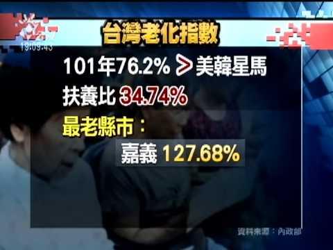 20130127 公視晚間新聞 台灣人口老化 比美韓星馬嚴重