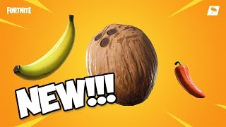 NEW BANANA, COCONUT, and PEPPER CONSUMABLES *v8.20 patch notes* (Fortnite Battle Royale)