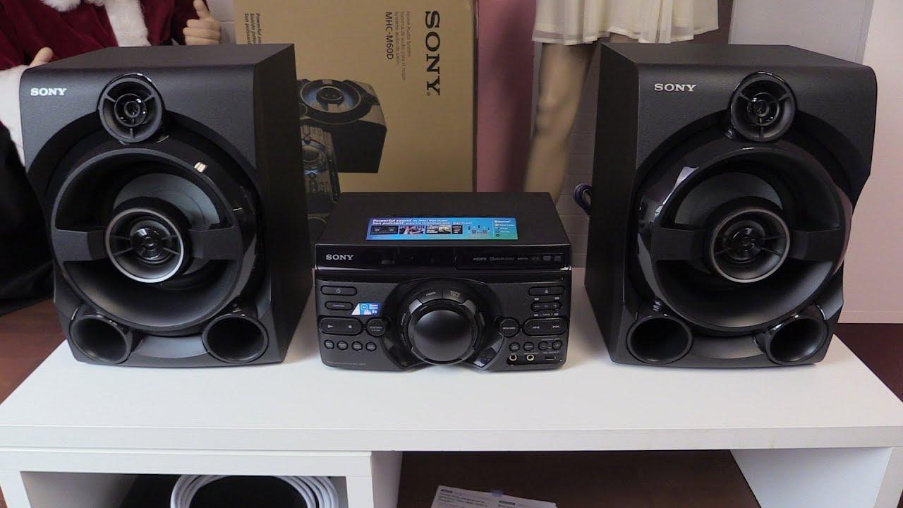 Sony Mhc M60d Musiksystem Test Youtube