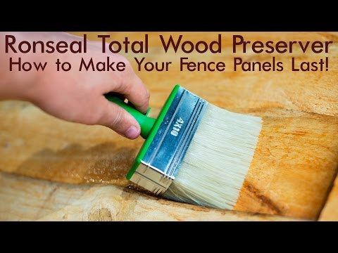 How To Treat A Fence Panel So It Will Last Ronseal Total Wood