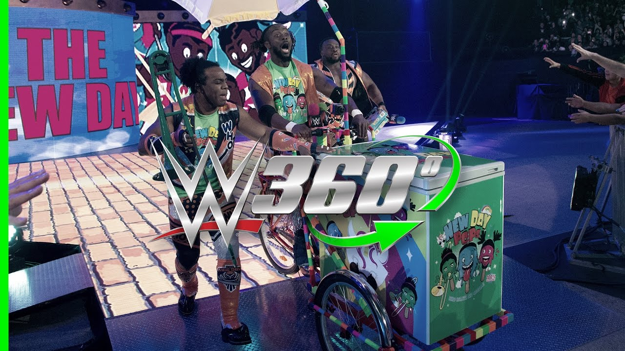 Download Make an entrance on the New Day Pops-Cycle in 360° with your WrestleMania 33 hosts, The New Day