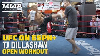 UFC Brooklyn: T.J. Dillashaw Open Workout Highlights - MMA Fighting