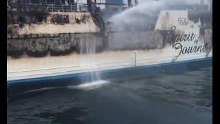 Download Kapal Gerbang Samudra I Terbakar, Sumber Api Diduga dari Dek Tempat Parkir Kendaraan Mp3 and Videos