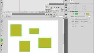 Выравнивание объектов на сцене в Adobe Flash CS4 (22/46)