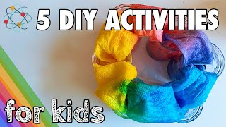 EASY DIY ACTIVITIES TO KEEP YOUR KIDS BUSY   AT HOME EXPERIMENTS FOR KIDS   QUARANTINE ACTIVITIES