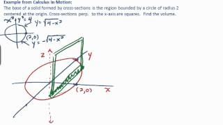 Calculus: Volume by Cross-Section - Example 1