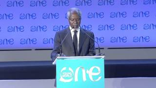 the greatest contemporary challenge facing the globe   kofi annan   one young world