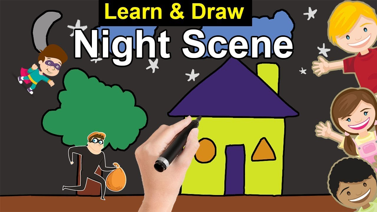 Draw House Using Shapes In Easy Way Youtube