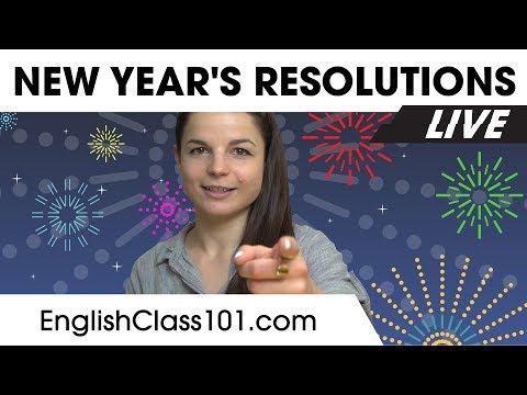 Talk About New Year's Resolutions - Learn English 🔴