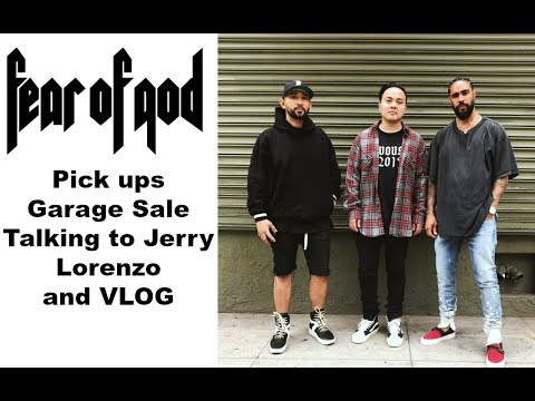 Fear of God Garage Sale, PICK UPS, Meeting Jerry Lorenzo and VLOG