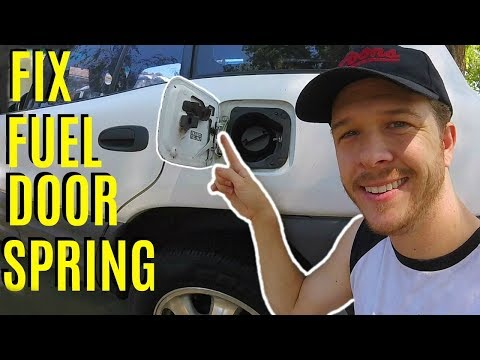 How To Fix Broken Toyota Fuel Door Spring -Jonny DIY