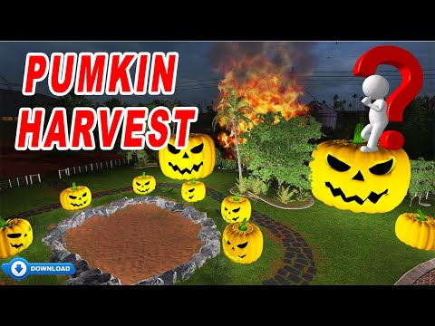 Farming Simulator 17:Crazy Pumkin Harvesting!!! Crazy Pumkin Baling ! 👹Happy Halloween!!!