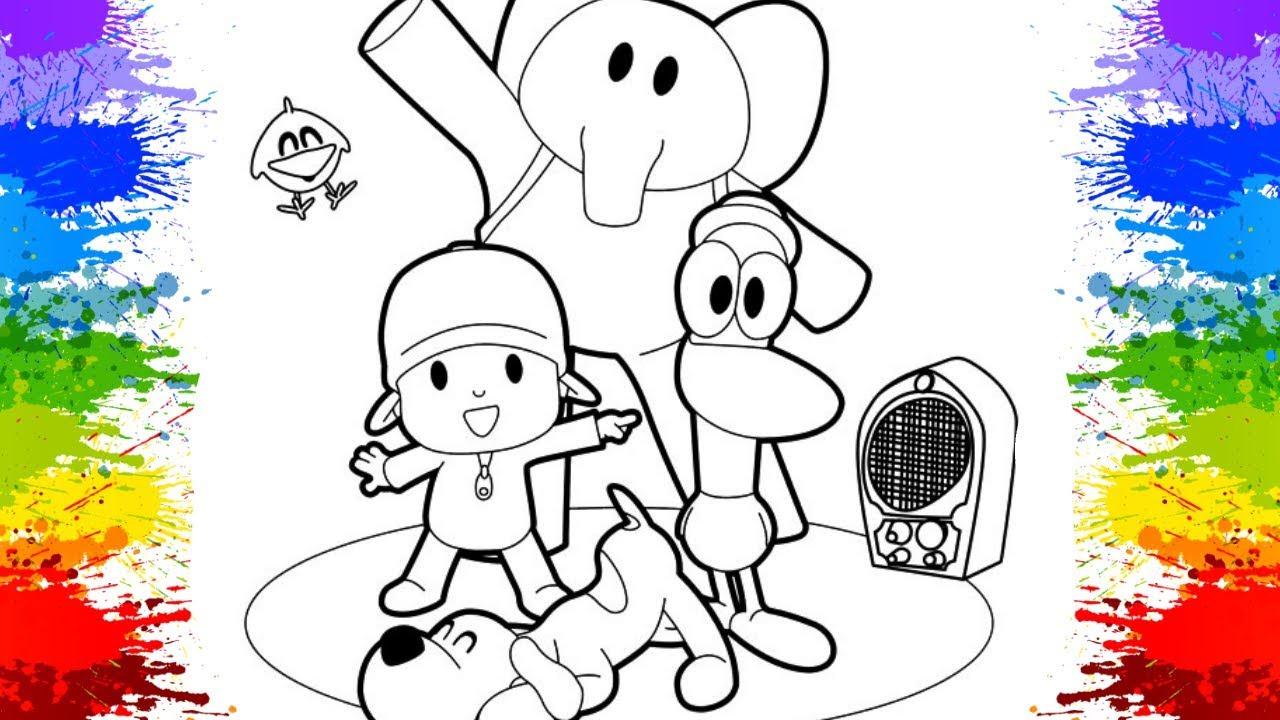 POCOYO Colorir Para Crianças Pinturas De Desenhos