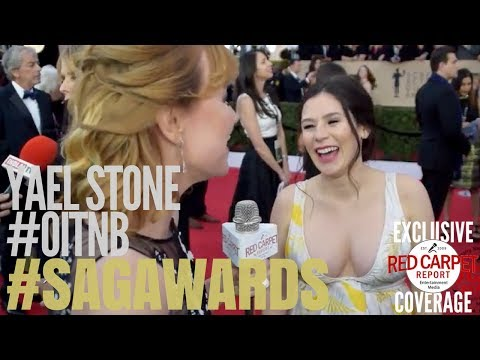 Yael Stone OitNB ed on the 24th Screen Actors Guild Awards Red Carpet