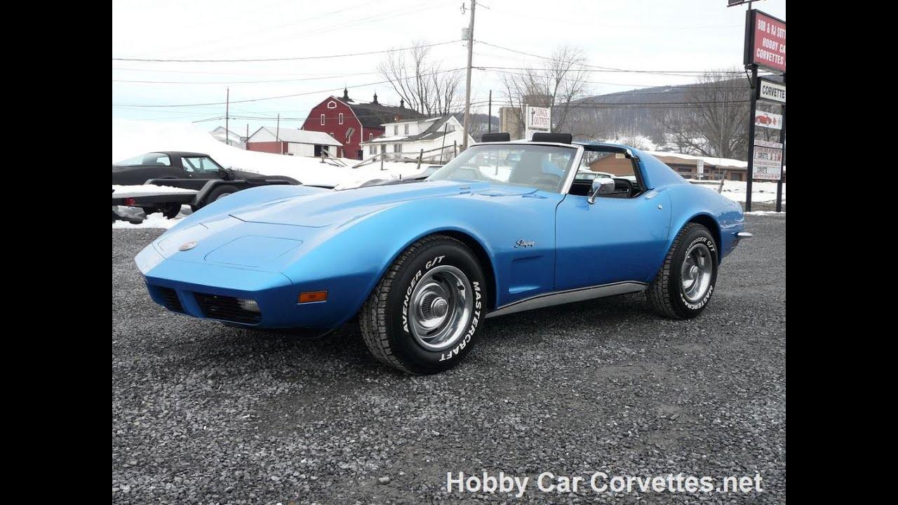1973 Blue Big Block 454 4spd Corvette Hot Rod Restored ...