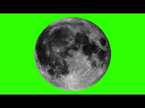 moon in green screen free stock footage thumbnail