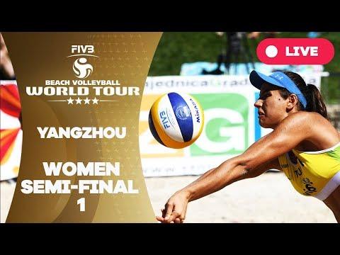 Yangzhou 4-Star - 2018 FIVB Beach Volleyball World Tour - Women Semi Final 1