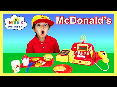 McDonalds Cash Register Toy Pretend Play Food Cookie Monster Happy Meal Trolls Toys For Kids