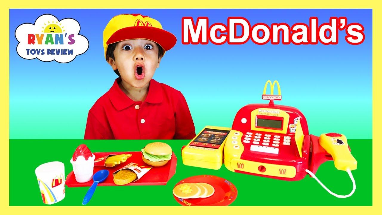 McDonalds Cash Register Toy Pretend Play Food Cookie