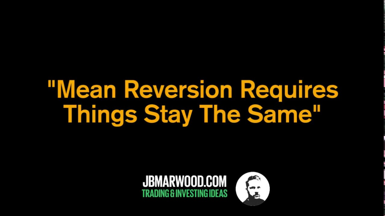 The One Thing You Need For A Good Mean Reversion Trade