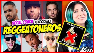 Download REGGEATONEROS ¿Cantan? ¿No hay LATIN GRAMMY? | VOCAL COACH REACCIONA | Gret Rocha Mp3 and Videos