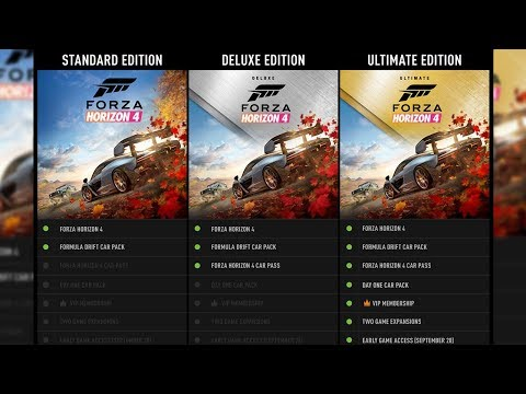 WHICH FORZA HORIZON 4 EDITION SHOULD YOU BUY? (CAR PASS,HOUSES,SIZE,EXPANSION PASS,VIP)