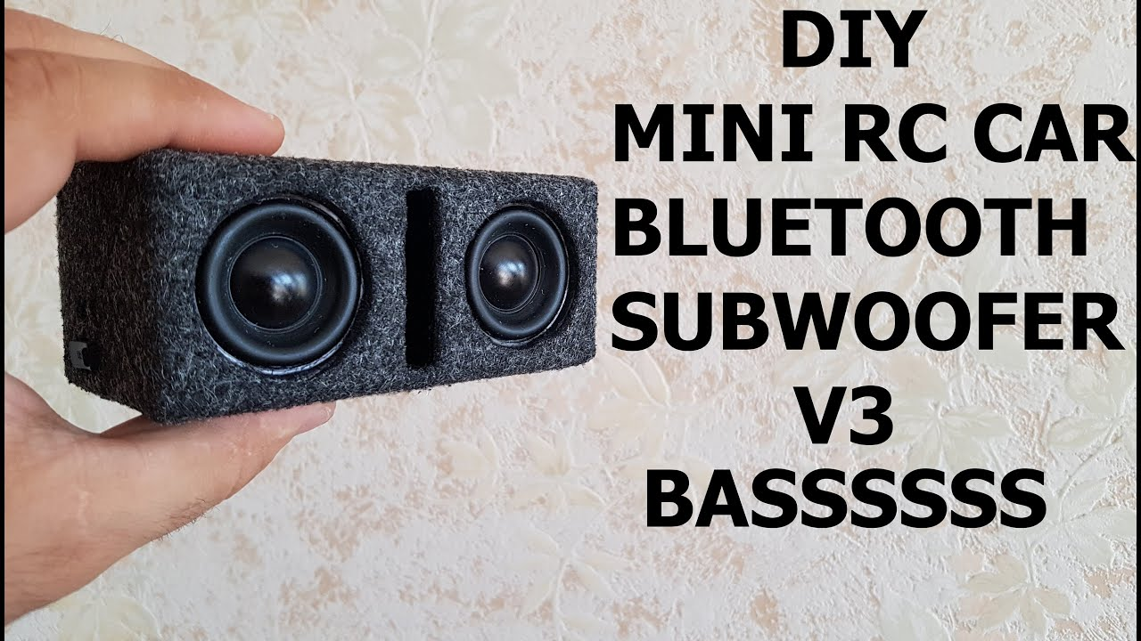 DIY Mini RC CAR Bluetooth Subwoofer V3  |RC CAR SUB|