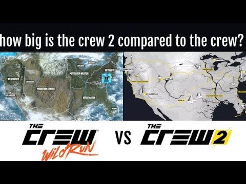 THE CREW 2 Scaling The Map Size | How Big Is The Map?