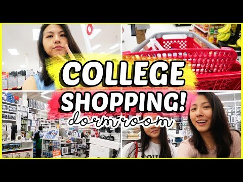 🛍️College DORM ROOM Shopping VLOG + HAUL 2018!! | Katie Tracy 🛒