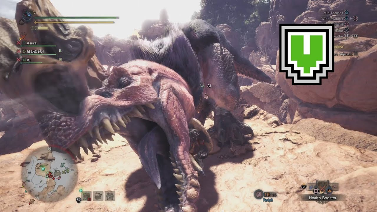 TICKLED PINK / 17'15''25 / Anjanath / Lance (MHW 6 Star ★ Assigned Quest)  PS4 Pro