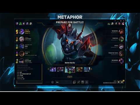 Metaphor - Challenger Kha'Zix GOD MODE (FULL GAME)