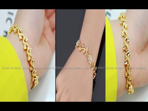 Diy Simple Gold Bracelet For Womens Latest Designs Gusa Gusalu