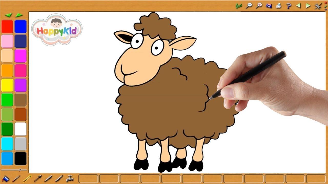 رسم وتلوين خروف العيد تعلم الالوان عيد مبارك Youtube