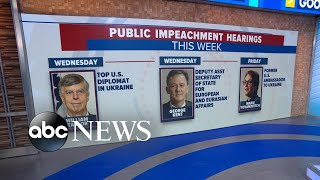 What to watch as public impeachment hearings begin | ABC News