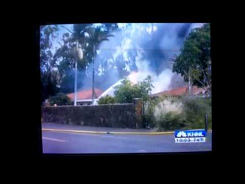 Breaking News: Waikoloa Fire Story. Shot, collected and filed by John Hauer