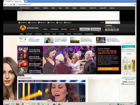 Tutorial descargas videos antena 3.com