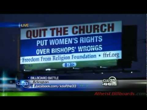 Atheist Billboard - Arlington, TX - Freedom From Religion Foundation (FFRF) - Local news