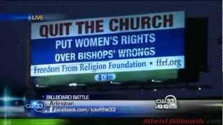 Atheist Billboard - Arlington, TX - Freedom From Religion Foundation (FFRF) - Local news