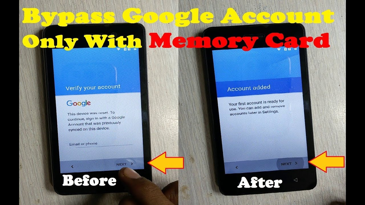 Simple Way Bypass Google Account With MEMORY CARD Only
