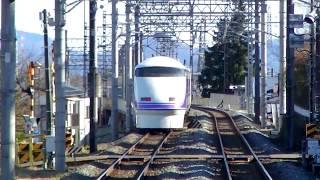 上今市駅を通過する特急スペーシア(上り列車・雅)