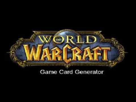 gratis wow game card