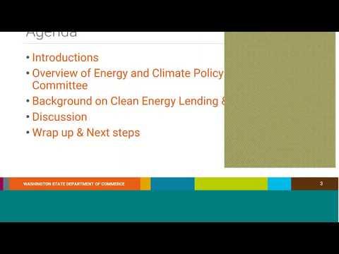 Clean Energy Fund, Lending Program Stakeholder Session #1