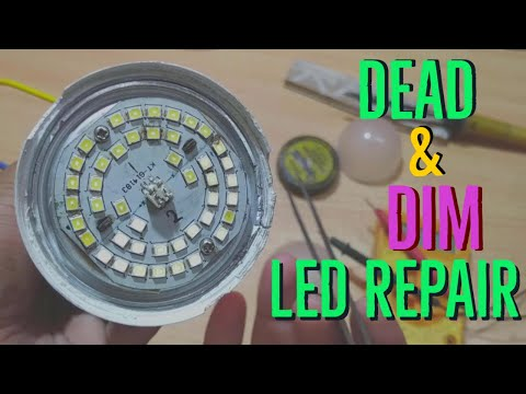 How To Repair Dead And Deem LED Bulb (Easy And Simple Way) - In Hindi