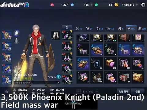 3,500K Phoenix Knight (Paladin 2nd) Field mass war (KR) [Lineage2 revolution]