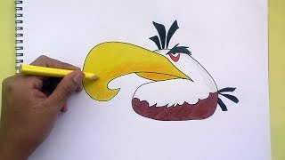 Dibujando y pintando a Mighty Eagle (Angry Birds)- Drawing and painting to Mighty Eagle