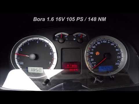 2002 Volkswagen Bora 1.6 16V (105PS) Acceleration 0-100 Km/h    0-170 Km/h (1080p FullHD 60fps)