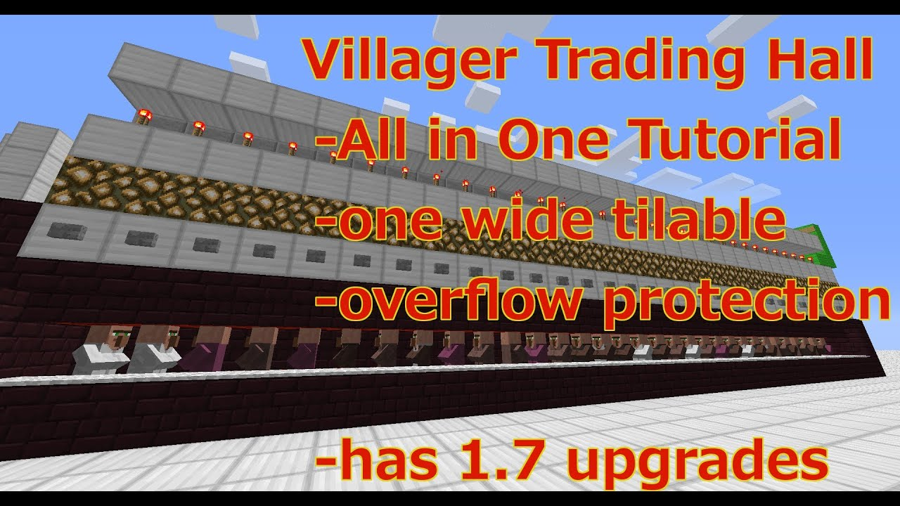 Villager Trading Hall - Minecraft 1.7 Tutorial - YouTube